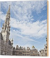 Grand Place In Brussels Belgium Wood Print