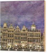 Grand Place Wood Print
