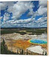 Grand Prismatic Pool Yellowstone National Park Wood Print
