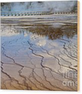 Grand Prismatic Runoff - Yellowstone Wood Print