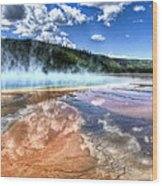 Grand Prismatic Spring - Yellowstone Wood Print
