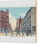Grand Rapids - Michigan - Campau Square And Monroe Street - 1912 Wood Print