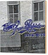 Grand Rapids Brewing Wood Print