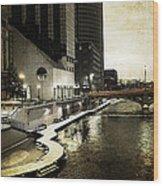 Grand Rapids Grand River Wood Print