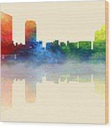 Grand Rapids Michigan Skyline 2 Wood Print