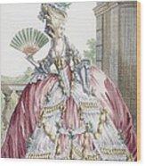 Grand Robe A La Francais, Engraved Wood Print by Claude Louis Desrais