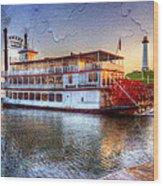 Grand Romance Riverboat Wood Print