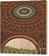 Grand Rotunda Pennsylvanian Pittsburgh Wood Print