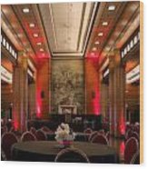 Grand Salon 01 Queen Mary Ocean Liner Wood Print