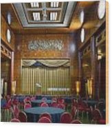 Grand Salon 02 Queen Mary Ocean Liner Wood Print