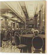 Grand Salon 05 Queen Mary Ocean Liner Heirloom Wood Print
