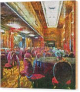 Grand Salon 05 Queen Mary Ocean Liner Photo Art 02 Wood Print