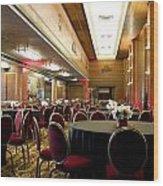 Grand Salon 05 Queen Mary Ocean Liner Wood Print