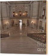 Grand Staircase S F City Hall Wood Print