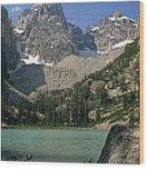 1m9387-v-grand Teton And Delta Lake - V Wood Print