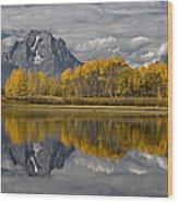 Grand Teton Gold Wood Print