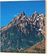 Grand Teton Mountain Wood Print