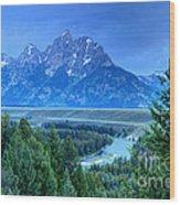 Grand Teton  - Snake River Overlook  Wood Print
