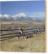 Grand Teton Nat'l Park Wood Print