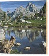 1m9374-grand Teton Reflect Wood Print