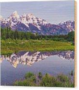 Grand Teton Reflection Wood Print