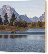 Snake River, Grand Tetons, Wyoming Wood Print