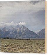 Grand Thunder - Grand Teton National Park - Wyoming Wood Print
