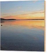 Grand Traverse Bay Sunset Wood Print
