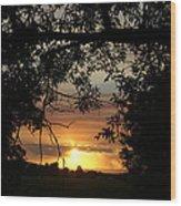 Grand Valley Sunset Wood Print