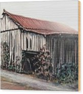 Grandaddy's Barn Wood Print by Melodye Whitaker