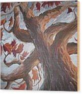 Grandeur Of Tree Wood Print