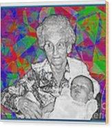 Grandma And Rose Wood Print