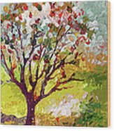 Grandmas Apple Tree Modern Art Wood Print