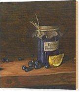 Grandma's Blueberry Jam Wood Print