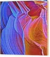 Grandma's Hair In Lower Antelope Canyon In Lake Powell Navajo Tribal Park-arizona Wood Print