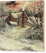 Grandma's House Wood Print