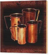 Grandma's Kitchen-copper Measuring Cups Wood Print