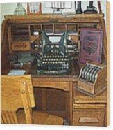 Grandma's Office Wood Print by MJ Olsen