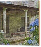 Grandma's Porch Wood Print