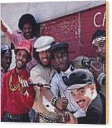 Grandmaster Flash And Furious Five In Nyc Wood Print