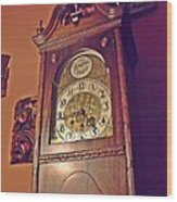 Grandmother Clock Wood Print