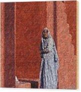 Grandmother In India Wood Print