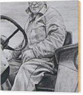 Grandpa Wood Print