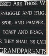 Grandparents Wood Print
