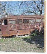 Grandpas School Bus Wood Print by Rosalie Klidies