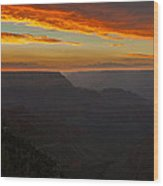 Grandview Sunset Wood Print