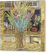 Granite Bouquet Vangogh Vision Wood Print