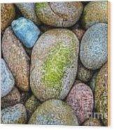 Granite Cobbles Wood Print