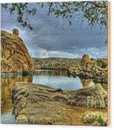 Watson Lake Prescott Arizona Wood Print