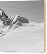 Granite Glacier Wood Print